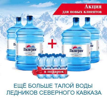 """Упаковка воды """"Пилигрим"""" в подарок!"""
